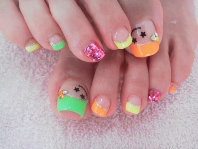 Nail , 6 Nail Art Designs For Toes : Cool Toe Nail Art Designs