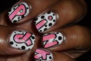 1140x1167px 5 Breast Cancer Nail Designs Picture in Nail