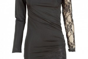 Fashion , 6 Black Lace Dress With Long Sleeves : You are here: Home > Black Lace Insert Long Sleeve Bodycon Dress