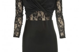 Fashion , 6 Black Lace Dress With Long Sleeves : You are here: Home > Black Lace Twist Detail Long Sleeve Dress