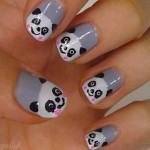 panda nail art 25 Really Beautiful Nail Art Designs , 5 Panda Nail Art Designs In Nail Category