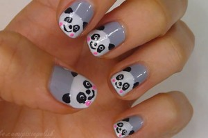 Nail , 5 Panda Nail Art Designs : panda nail art 25 Really Beautiful Nail Art Designs