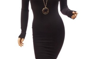 Fashion , 6 Casual Long Black Dress : black dresses long sleeves long patty off the sleeve black shirt long ...