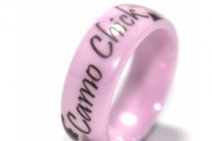 400x400px Pink Camo Wedding Rings Picture in Fashion