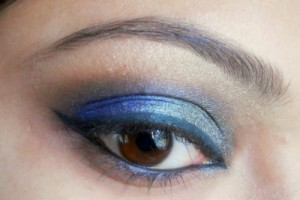 Make Up , 6 Peacock Eye Makeup Tutorial : peacock blue colors eye makeup tutorial 1