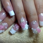 pink flower acrylic nail designs , 6 Artificial Nail Designs In Nail Category