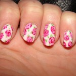 pinkrose vintage nail design , 8 Vintage Style Nail Designs In Nail Category