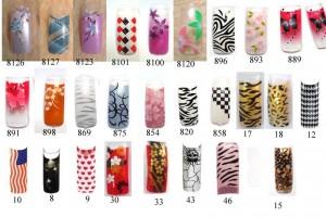 Nail , 6 Pre Designed Nail Tips : pre designed nail tips