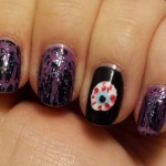 purple and blood eyes nail art , 5 Bloodshot Eyes Nail Design In Nail Category