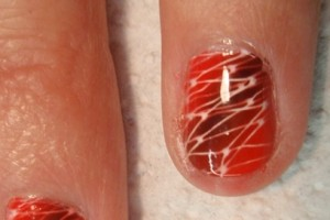 Nail , 5 Airbrush Nail Designs : red airbrush nail design