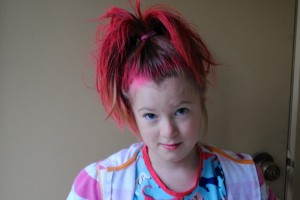 Hair Style , 7 Crazy Hair Day Styles For School : red crazy hairstyle for crazy hair day