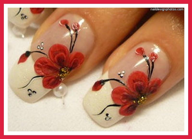 Ногти дизайн красным цветом фото