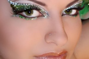 375x375px 7 Rhinestone Eye Makeup Picture in Make Up