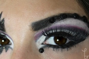 640x249px 6 Rhinestone Eye Makeup Picture in Make Up