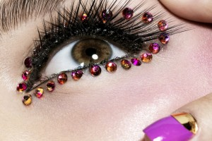 Make Up , 6 Rhinestone Eye Makeup : Rhinestone Eyes Makeup For Hazel Eyes Decorate Your Eyes : Fashion ...