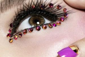 Make Up , 6 Rhinestone Eye Makeup : Rhinestone Eyes Makeup For Hazel Eyes Decorate Your Eyes : Fashion ...