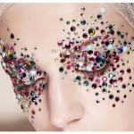 rhinestone studded eye makeup , 7 Rhinestone Eye Makeup In Make Up Category