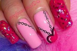 Nail , 6 Romantic Nail Art Design : Nail Art Designs | Romantic Heart Pendant Nails