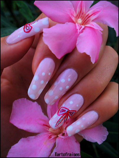 Nail , 5 Romantic Nail Art Design : Romantic Nails Design