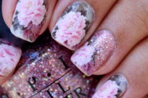 Nail , 5 Romantic Nail Art Design : romantic roses nail art