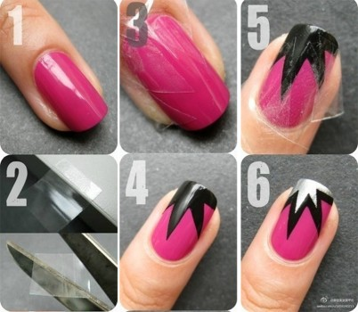 7 Scotch Tape Nail Designs in Nail
