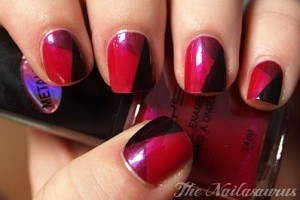 Nail , 7 Scotch Tape Nail Designs :  scotch tape nail designs