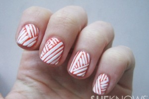 Nail , 7 Scotch Tape Nail Designs :  scotch tape toe nail designs