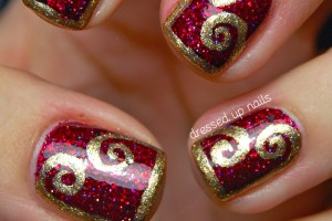 1142x1600px 6 Gold Nail Polish Ideas Picture in Nail