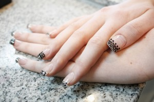 Nail , 10 Lace Nail Art Design : simple Lace nail art