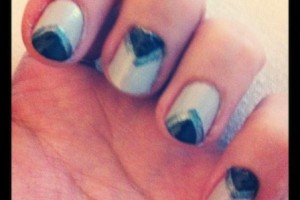 Nail , 7 Scotch Tape Nail Designs :  simple scotch tape nail designs