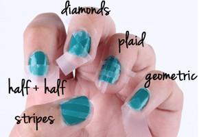 290x290px 7 Scotch Tape Nail Designs Picture in Nail