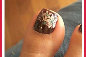 Nail , 6 Easy Toe Nail Designs : simple toe nail designs photos