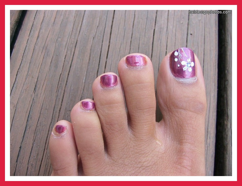 6 Easy Toe Nail Designs in Nail