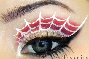 600x519px 7 Spider Web Eye Makeup Picture in Make Up
