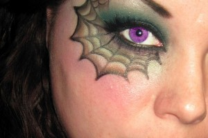 600x954px 5 Spider Web Eye Makeup Picture in Make Up