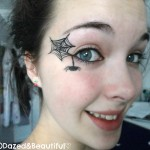 ... different heights between the lines. This will create your spider web , 5 Spider Web Eye Makeup In Make Up Category