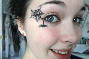 Make Up , 5 Spider Web Eye Makeup : ... different heights between the lines. This will create your spider web