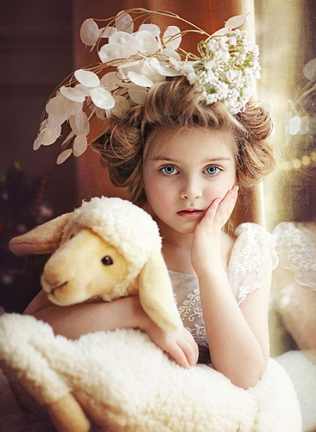 Sweet Kids Flower Girl Hairstyles Woman Fashion