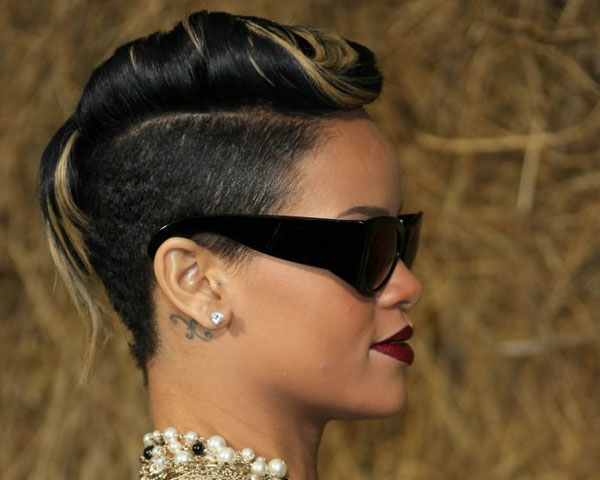 Hair Style , 7 Black Girls Mohawk Hairstyles : ... Rolled Neatly On Top Of The Head, In This Chic Semi Mohawk Hairstyle