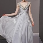 traditional vintage gray chiffon long formal dress , 7 Long Vintage Prom Dresses In Fashion Category