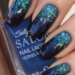 ... as prom prom nails nails nail art glitter blue gradient reverse nail , 6 Blue Prom Nail Designs In Nail Category