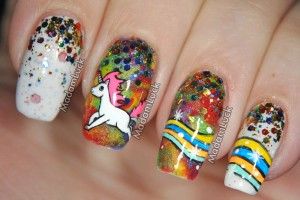 1024x990px 6 Unicorn Nail Art Design Picture in Nail