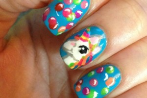 Nail , 6 Unicorn Nail Art Design : unicorn rainbow nail art
