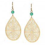 turquoise gold drop earrings 22 00 gold drop earrings are wire wrapped ... , 6 Gold Drop Earrings In Jewelry Category
