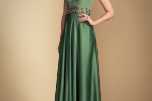 Fashion , 8 Vintage Long Gowns : vintage green London Long Stella VNeck Dress