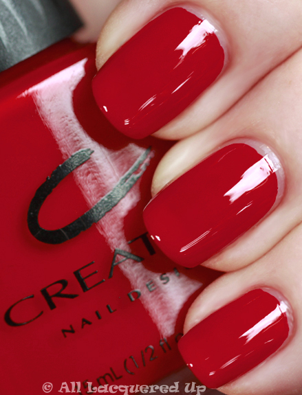 Nail , 6 Red Nail Polish Ideas : Wildfire Swatch Red Nail Polish