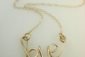 Jewelry , 12 Necklace Etsy : wire name necklace etsy