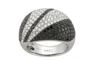 Jewelry , 10 Diamond Ring : yael black white diamond ring