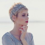 Her hairstyle is unique , 5 Gorgeous Short Feminine Hairstyles In Hair Style Category