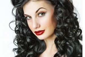 Hair Style , 7 Unique Long Hair Curled Styles : Long Curly Black Hair Style